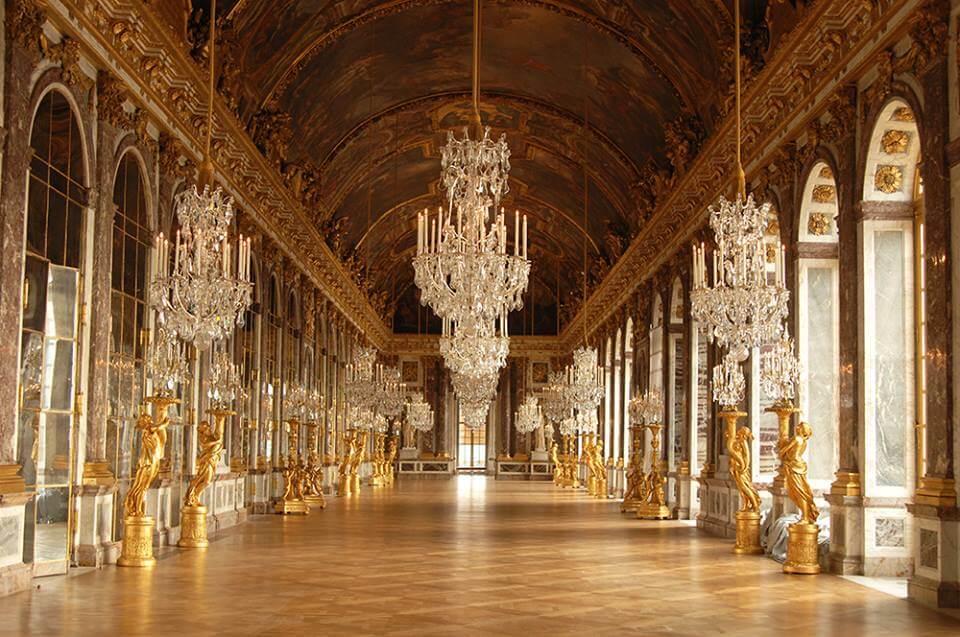 Galeria dos Espelhos. Foto: Château de Versailles